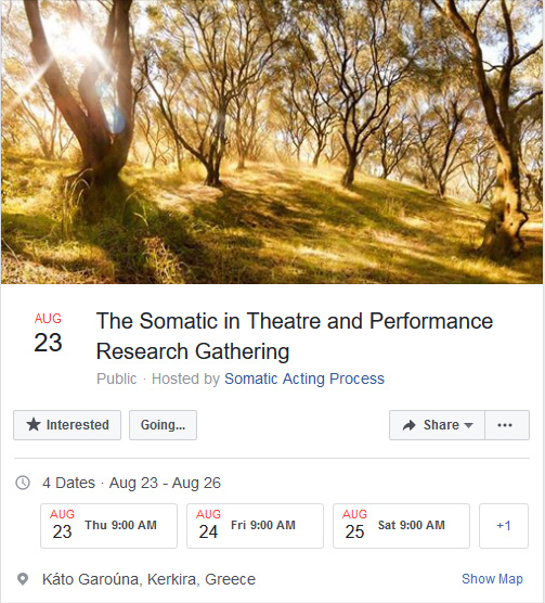 The Somatic in Theatre and Performance Research Gathering